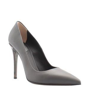 Fendi Decolette Grey Leather Pumps Size 7 (14326)